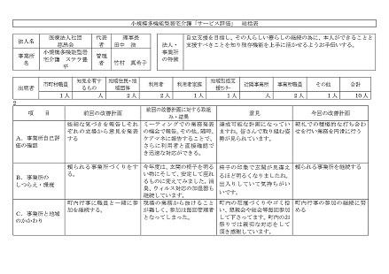 サービス評価総括表1-1