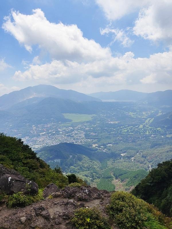 山頂から芦ノ湖20200815