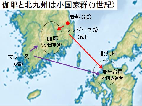 3世紀の朝鮮半島南部と北九州