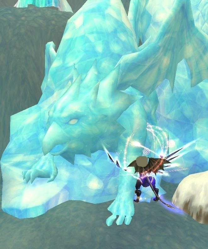 GFブログ(W10)用542D2 氷炎の峡谷・おかしな氷柱を発見?!