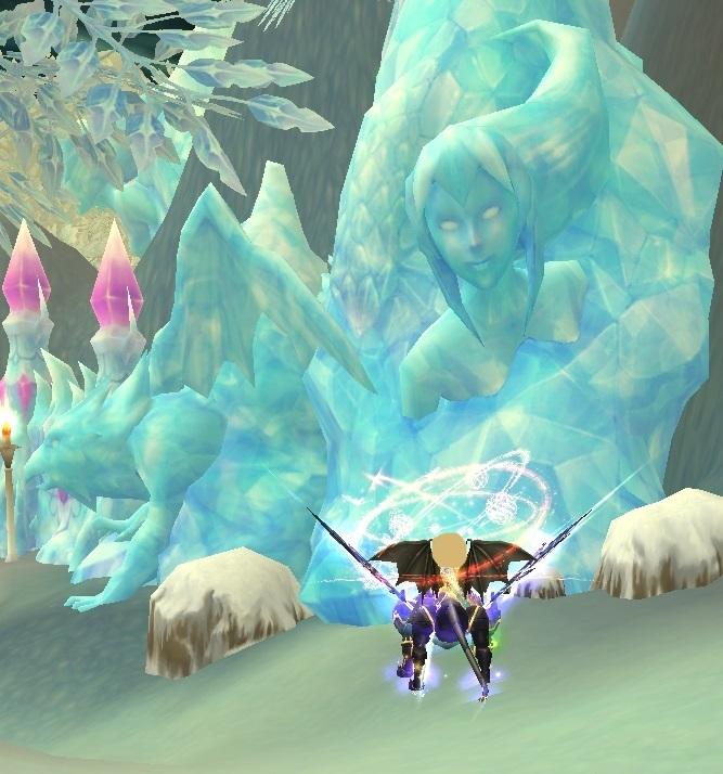GFブログ(W10)用542D4 氷炎の峡谷・おかしな氷柱を発見?!