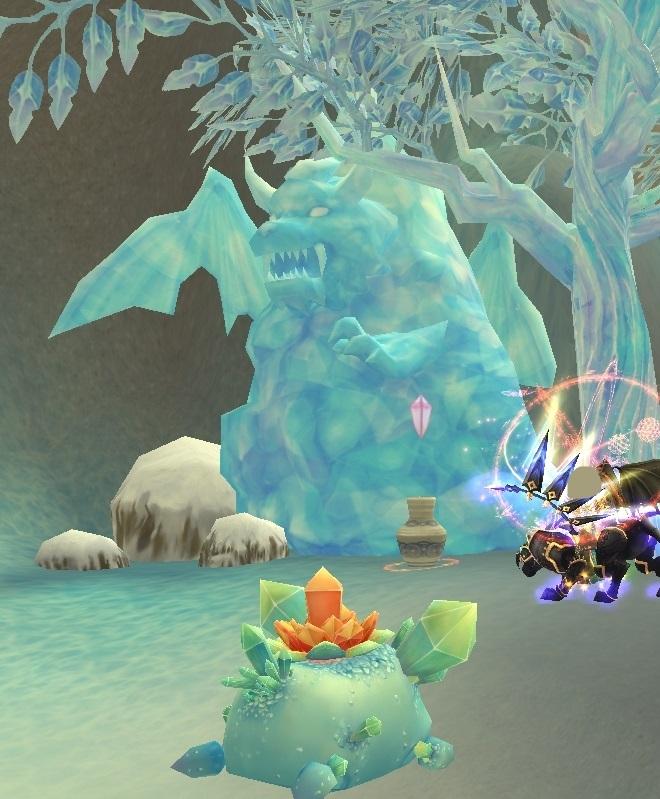 GFブログ(W10)用542D3 氷炎の峡谷・おかしな氷柱を発見?!