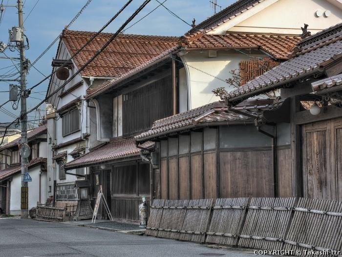 東広島市西条の町並み