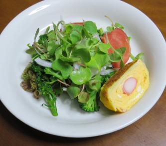カイワレ入りサラダ(朝食用)