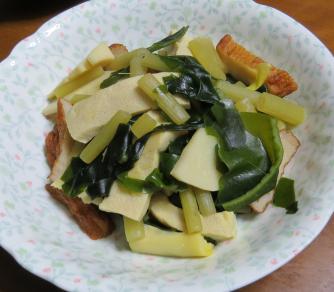 フキと野菜のミックス料理