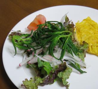 オカヒジキ入り野菜サラダ