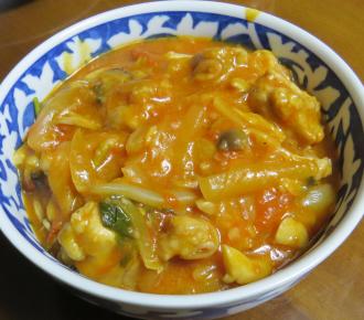 イタリアンパセリ入りトマトスープ