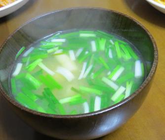 ワケギ味噌汁