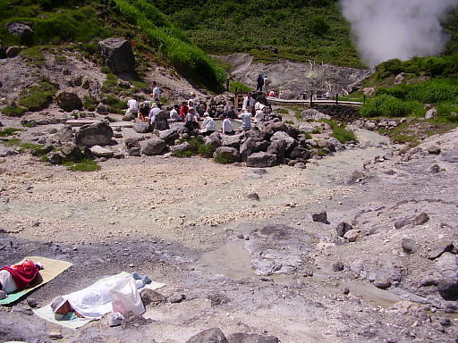 東北温泉旅行記12・玉川温泉7(足湯と天然サウナ)