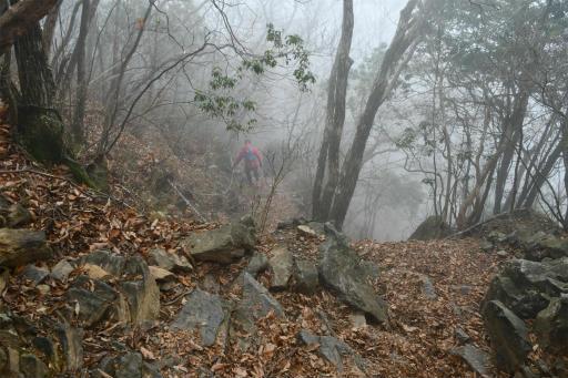 20201127・大岳山へ6-08・岩場急降下