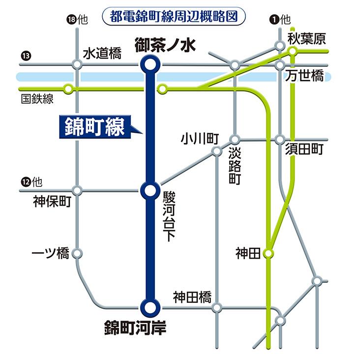 錦町線路線図