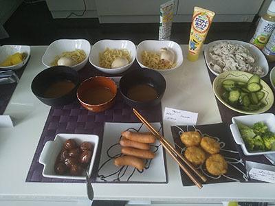 つけ麺・ミートボール・ウインナー・唐揚げ