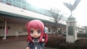 唐津駅前で