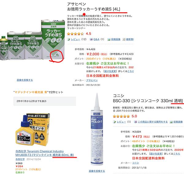 撥水剤材料