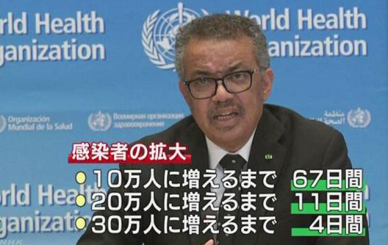 世界保健機構事務局長 NHK
