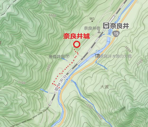 奈良井城アク