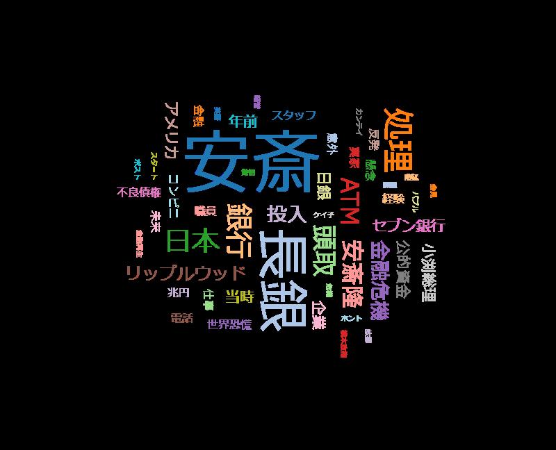 日経スペシャル 私の履歴書【金融界の偉人・安斎隆】バブル崩