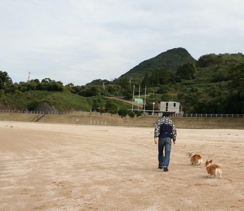 海辺で散歩