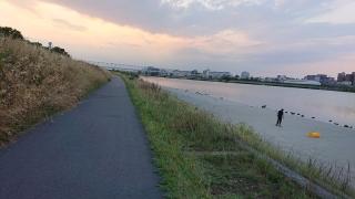 夕方の多摩川河川敷_01