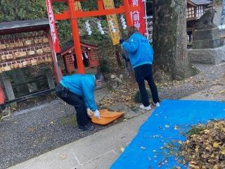 穴澤天神社の清掃_09