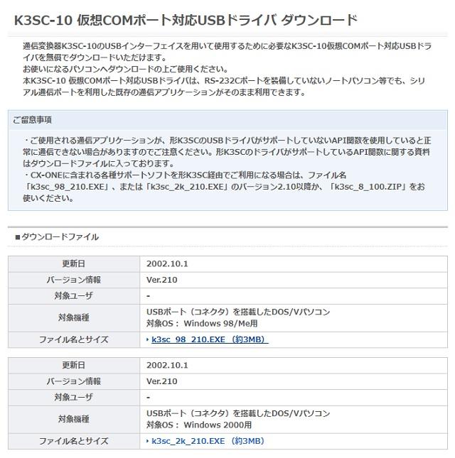 K3SC仮想ドライバ