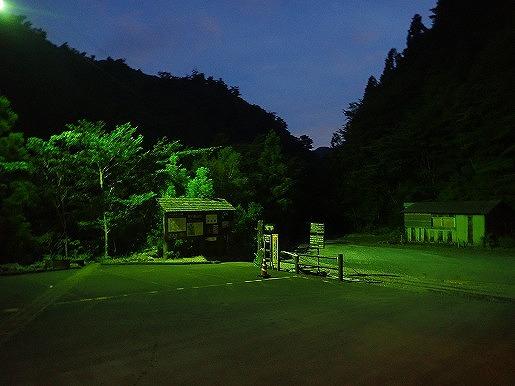 8月 朝の縄文杉登山口