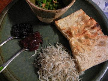 blog CP1 Breakfast, Green Onion Slab with Natto & Chirimen Jako_DSCN1789-1.11.19.jpg
