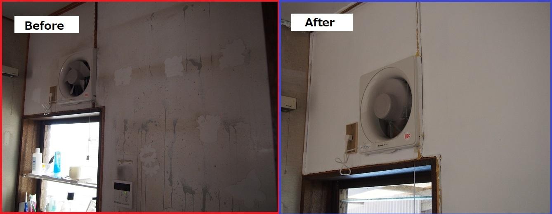 Kitchen repaint comparison 2