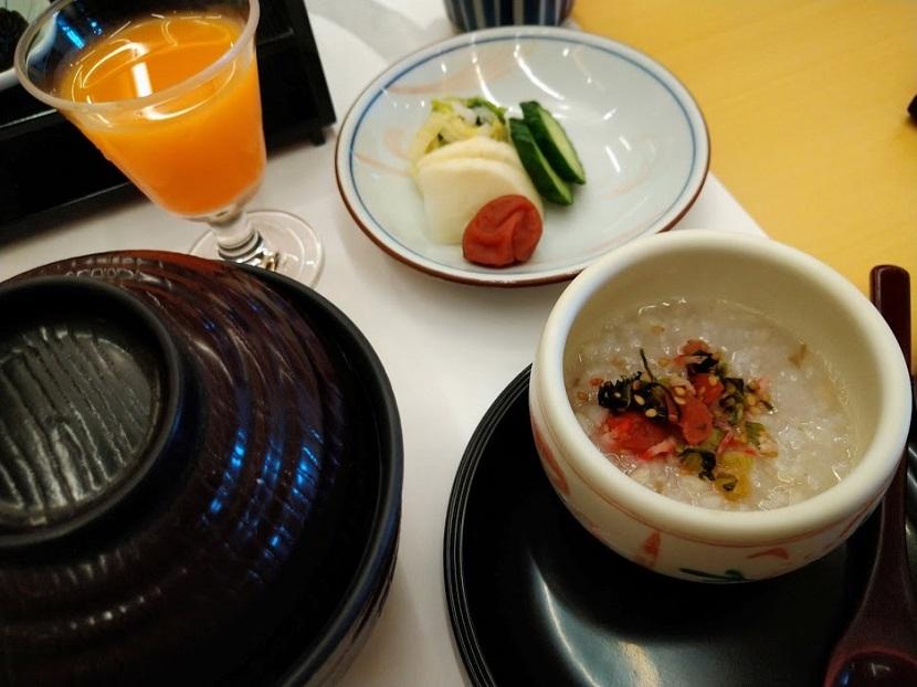 朝食膳2 そば粥