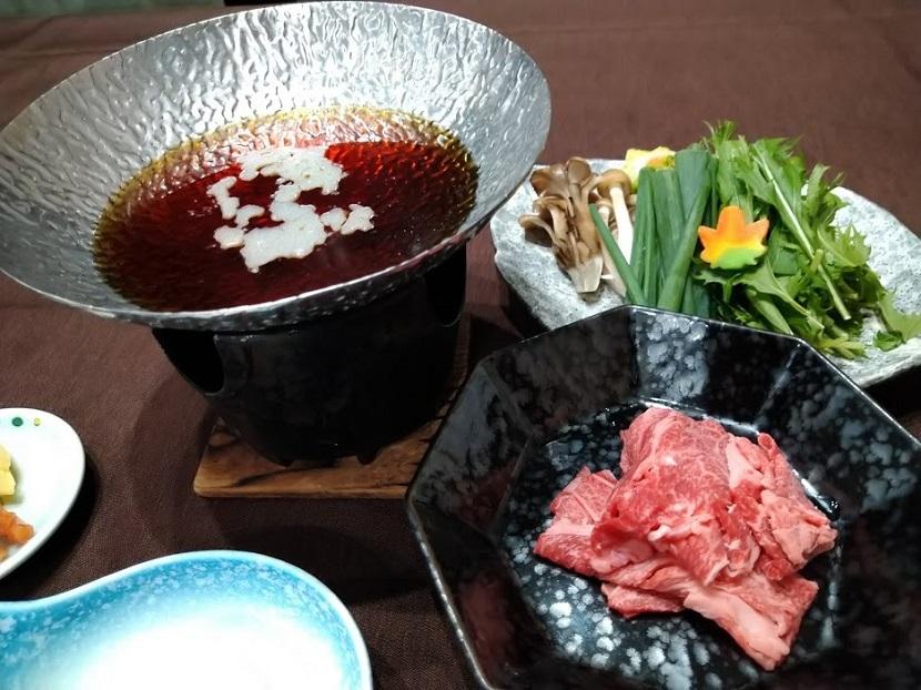 夕食 和牛すき鍋