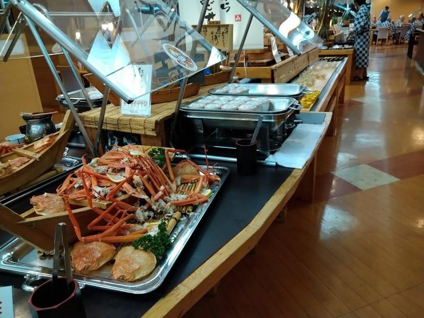 蟹、小鉢コーナー