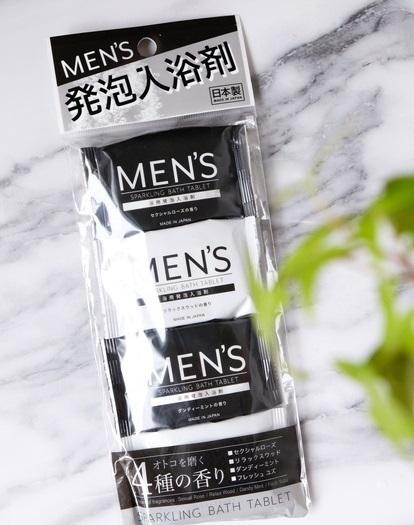 ダイソー・MEN'S 発泡入浴剤①
