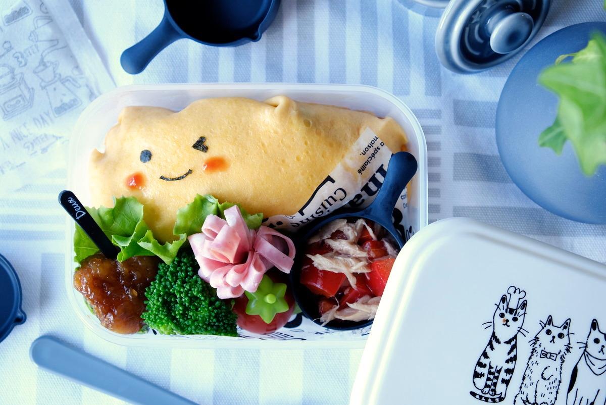 キャンドゥ・シリコーンスキレットカップ・オムライス・お弁当②