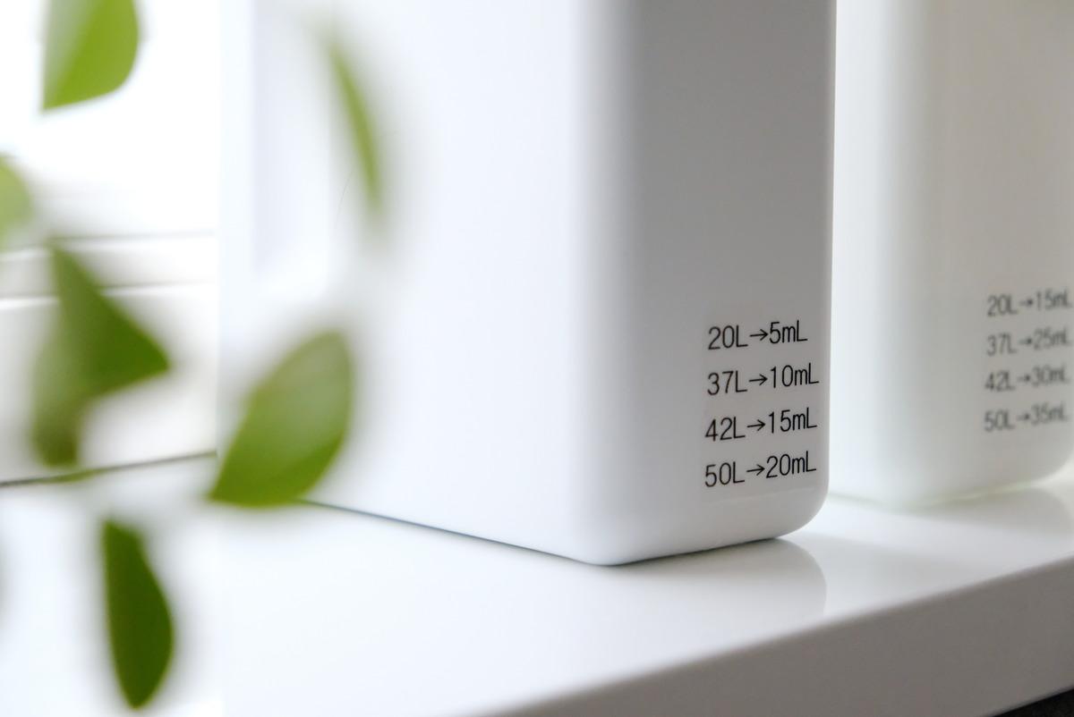 クレスbottle.B-1000ml・ブック型・洗剤詰め替えボトル・洗面所・使用量①