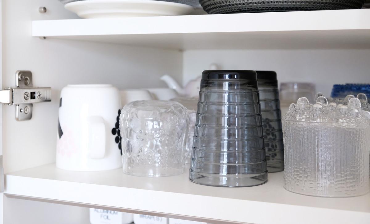 イッタラ・アアルト・タンブラー330ml・パモウナ・食器棚・グラスカップ収納①