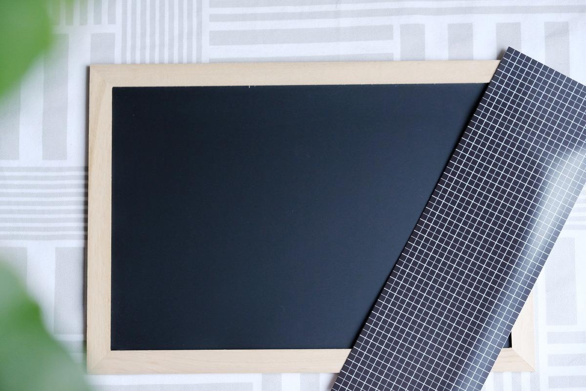 ダイソー・木製ブラックボード・粘着付 マグネットシート①