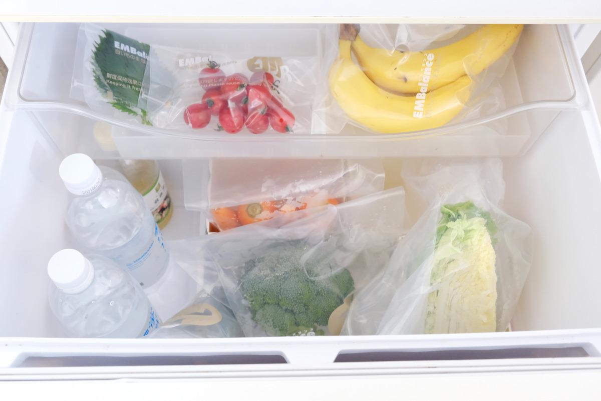 ホワイトマックス・エンバランス新鮮袋・冷蔵庫・野菜室①