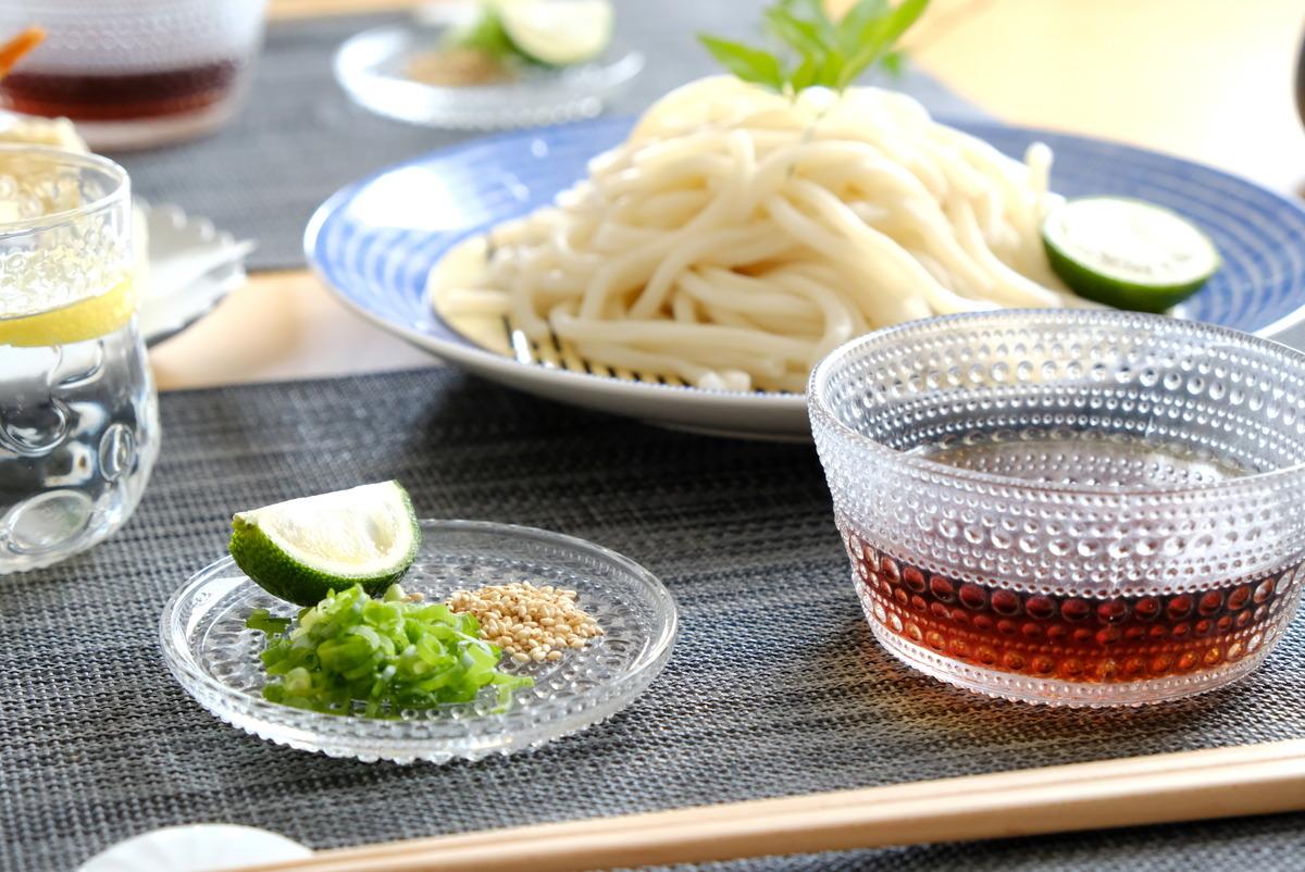 イッタラ・カステヘルミ10cmプレート・クリア・冷やしうどん・薬味皿①