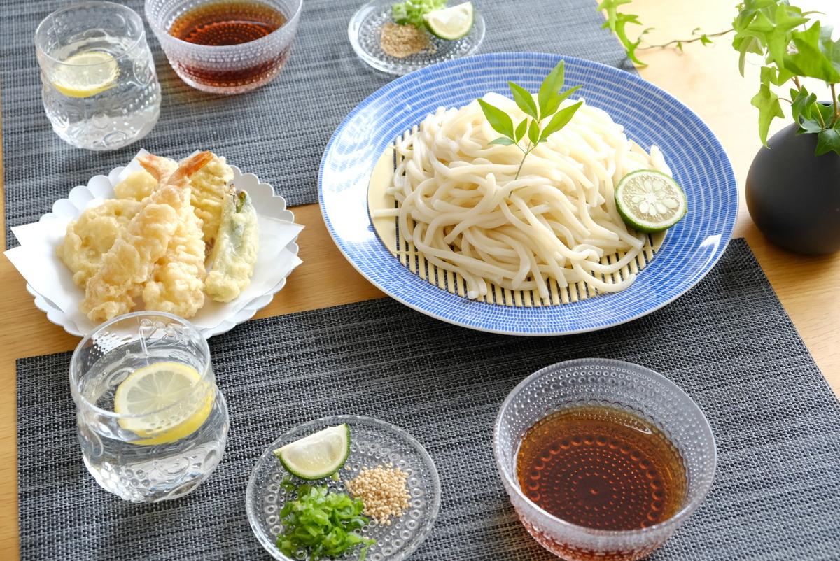 イッタラ・カステヘルミ10cmプレート・クリア・冷やしうどん・薬味皿②