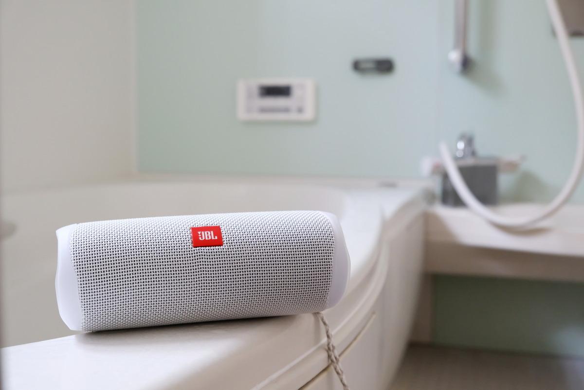JBL・Bluetoothスピーカー・FLIP5・浴室①