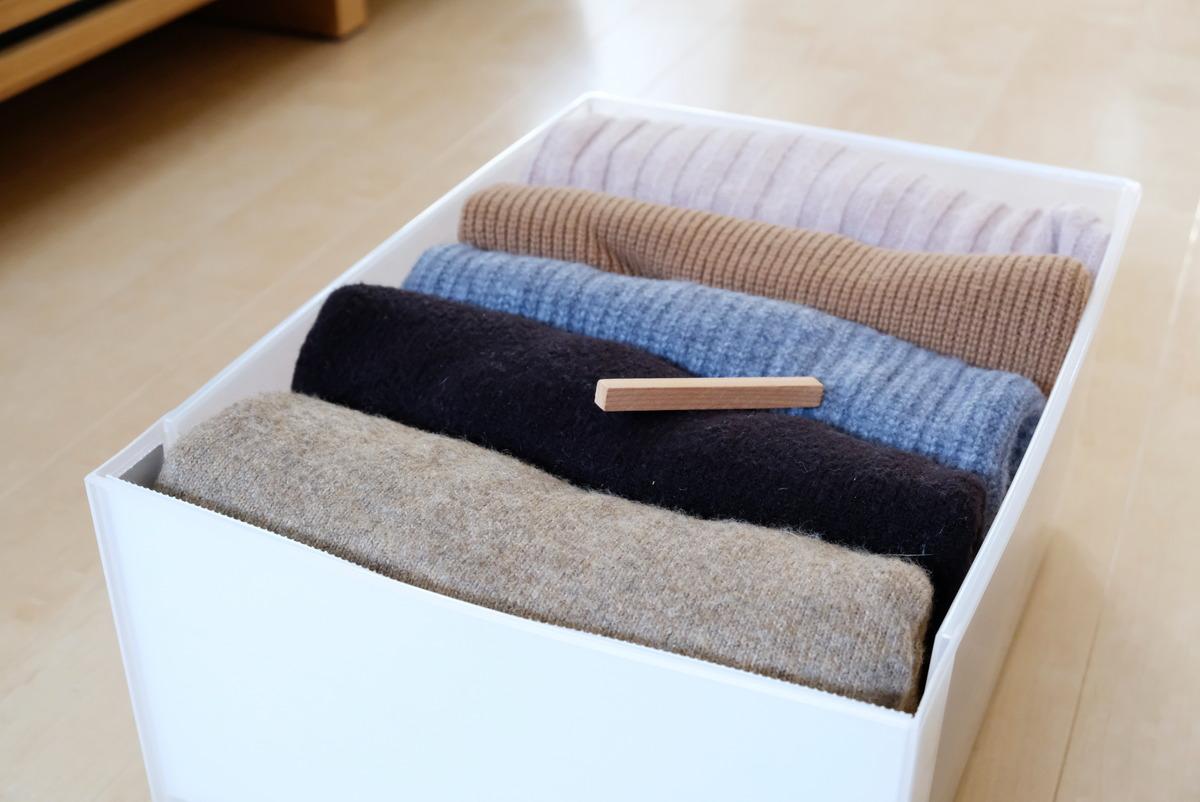 キャンドゥ・衣類折り畳み用プレート・自分クローゼット・ニット収納②