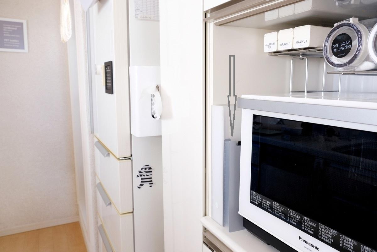 セリア・ドキュメントスタンド A4サイズ・キッチン・パモウナ食器棚①