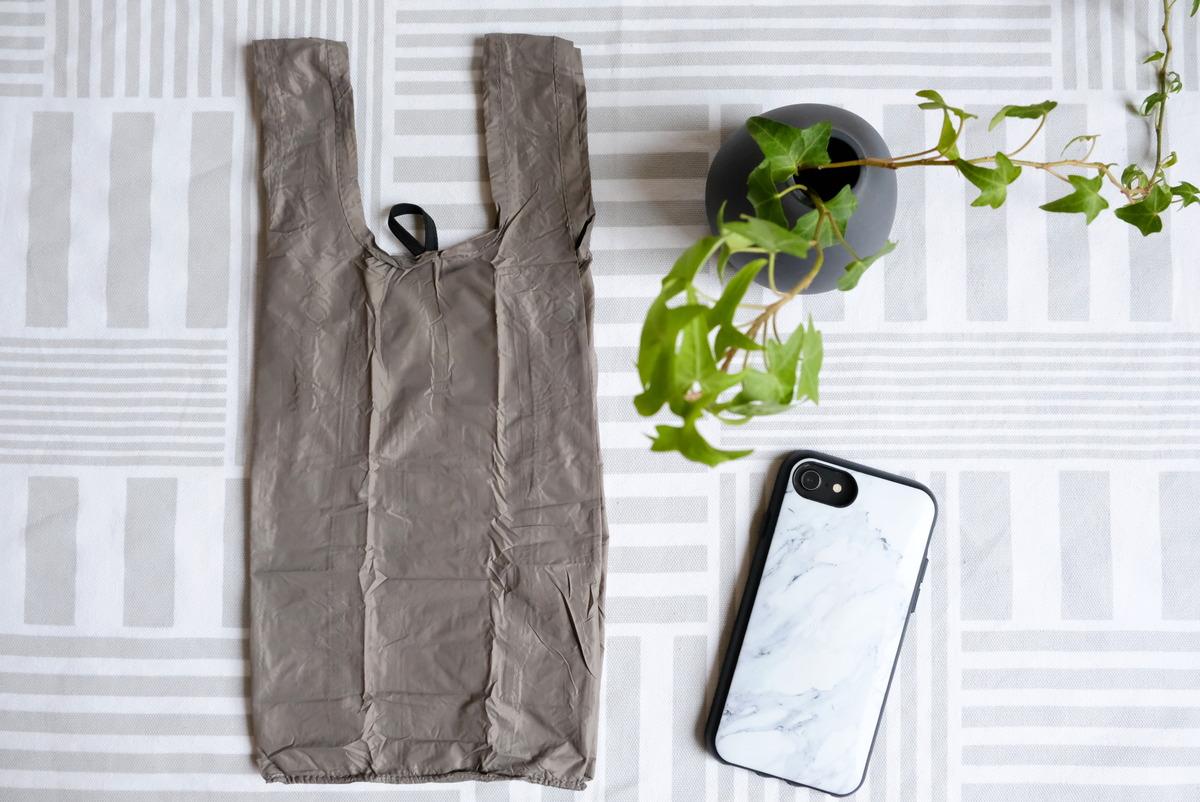 セリア・コンパクトレジ袋S・持ち帰り弁当用エコバッグ・次が使いやすい手さげ袋⑥