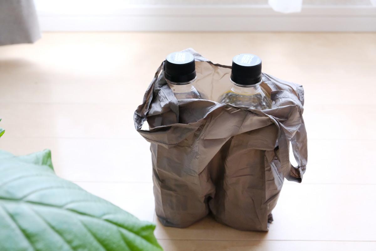 セリア・コンパクトレジ袋S・持ち帰り弁当用エコバッグ・次が使いやすい手さげ袋⑦