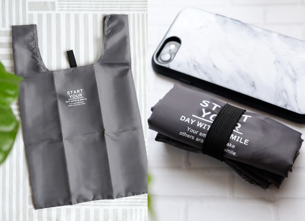 セリア・コンパクトレジ袋S・持ち帰り弁当用エコバッグ・次が使いやすい手さげ袋⑧