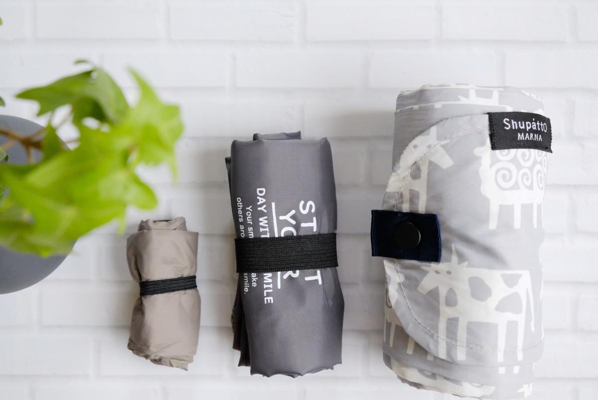 セリア・コンパクトレジ袋S・持ち帰り弁当用エコバッグ・次が使いやすい手さげ袋⑨