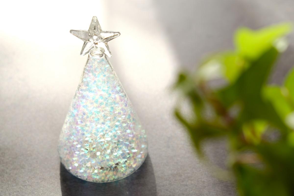 ダイソー・LEDガラス(飾りツリー)①