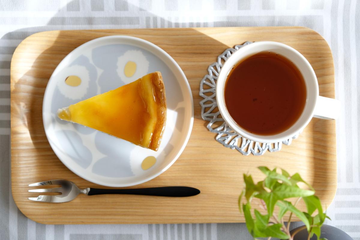 マリメッコ・ウニッコ・13.5cmプレート・アイシーグレー・チーズケーキ①