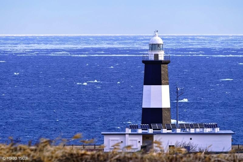 絶景探しの旅 - 絶景写真 No.1284 遠のく流氷の見える風景 (能取岬/北海道 網走市)