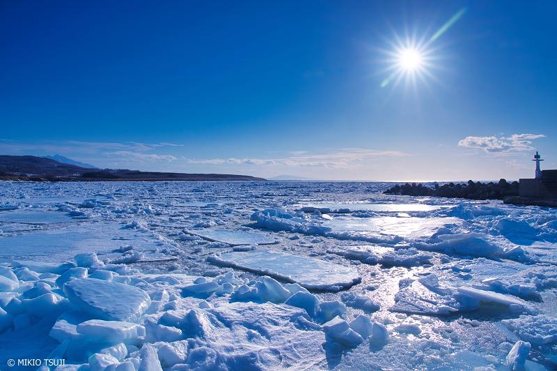 絶景探しの旅 - 絶景写真No.1294 流氷に覆いつくされる知布泊漁港 (北海道 斜里町)